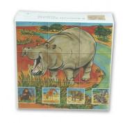 Würfelpuzzle Wildtiere Afrika