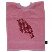 Kinderlätzli rosa Vogel