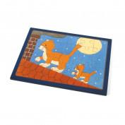 Rahmenpuzzle Katze auf dem Dach